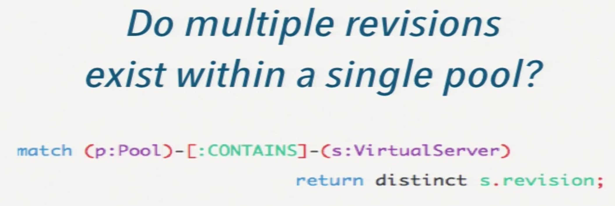 A Cypher Query to Determine If Multiple Revisions Exist within a Single Pool