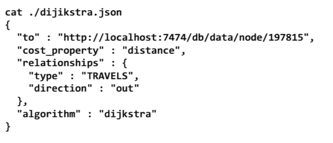 The JSON Output of the Dijkstra Algorithm in Neo4j