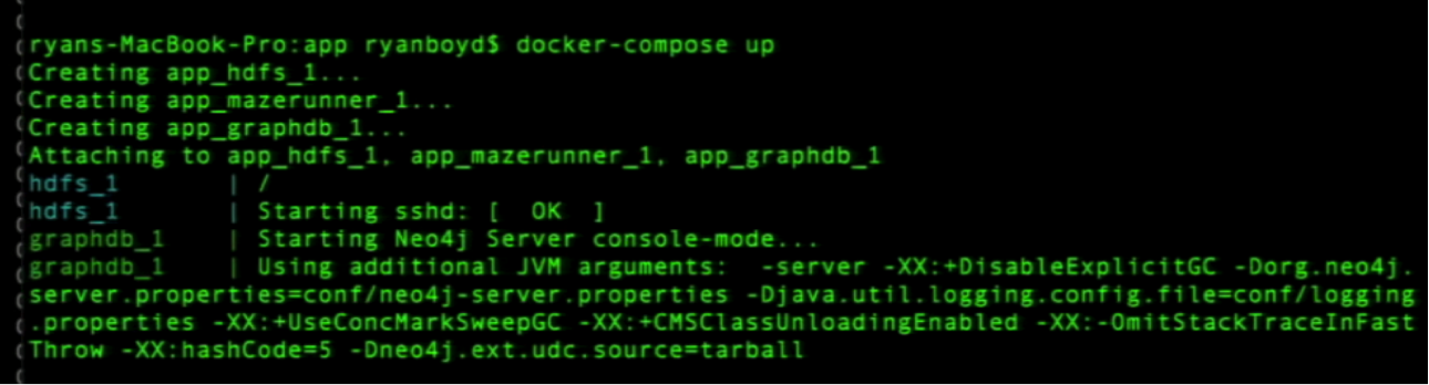 Docker Containers for HDFS, Mazerunner (Spark) and Neo4j