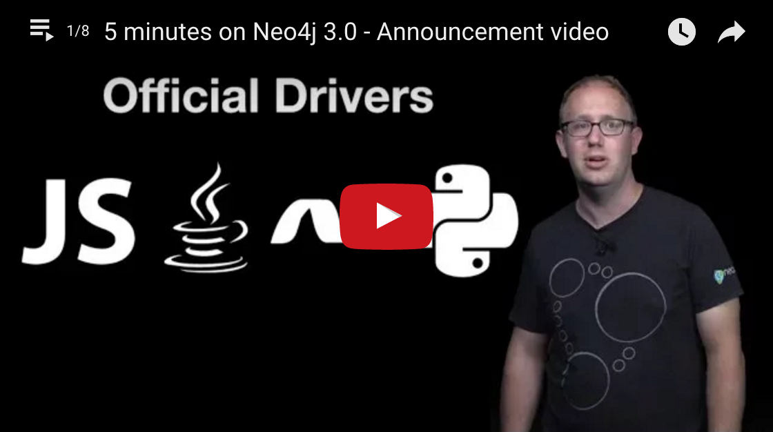 Watch as the Neo4j 3.0 Release Is Explained in This 5-Minute Video