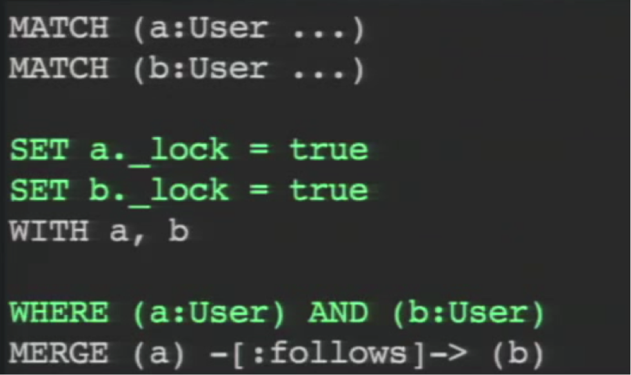 A Cypher Query with MATCH Write Locks to Verify the MATCH