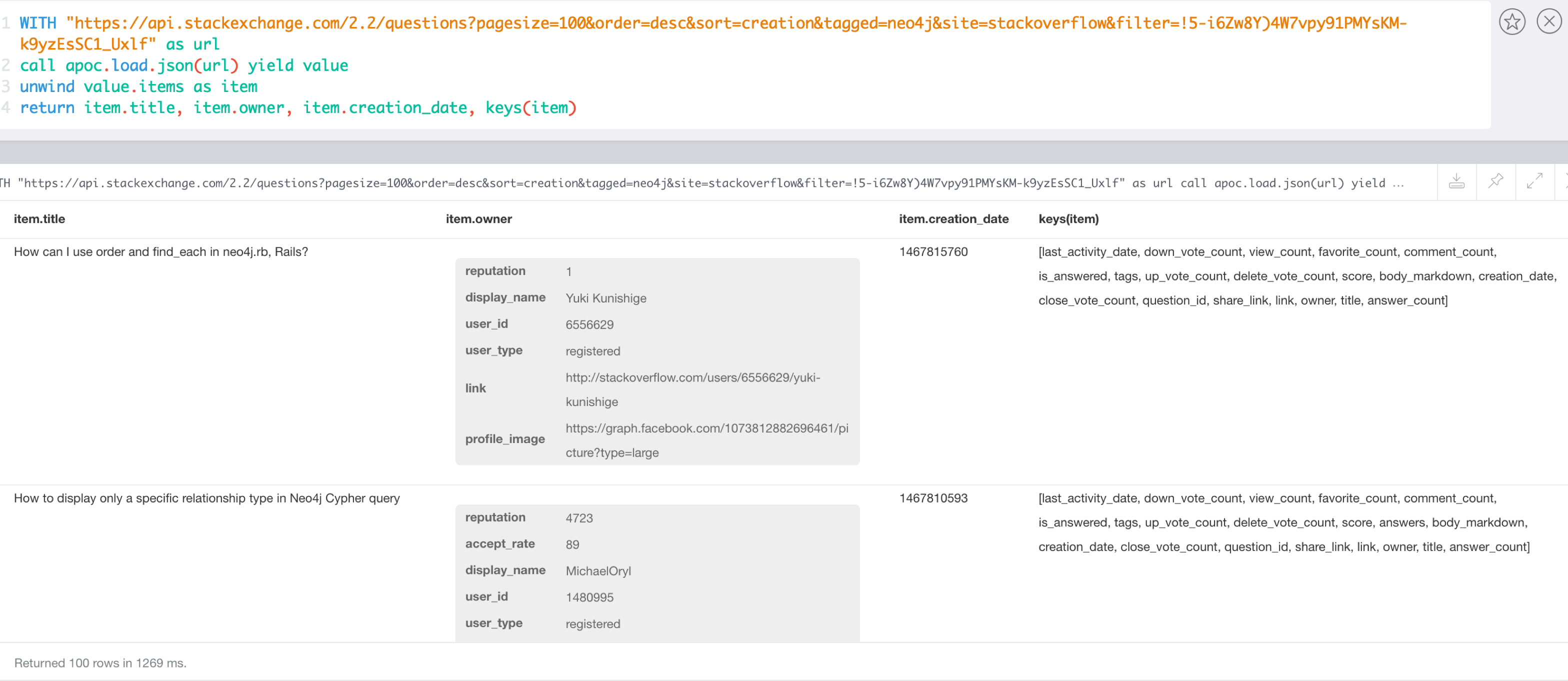 Load JSON Data from Stack Overflow in APOC