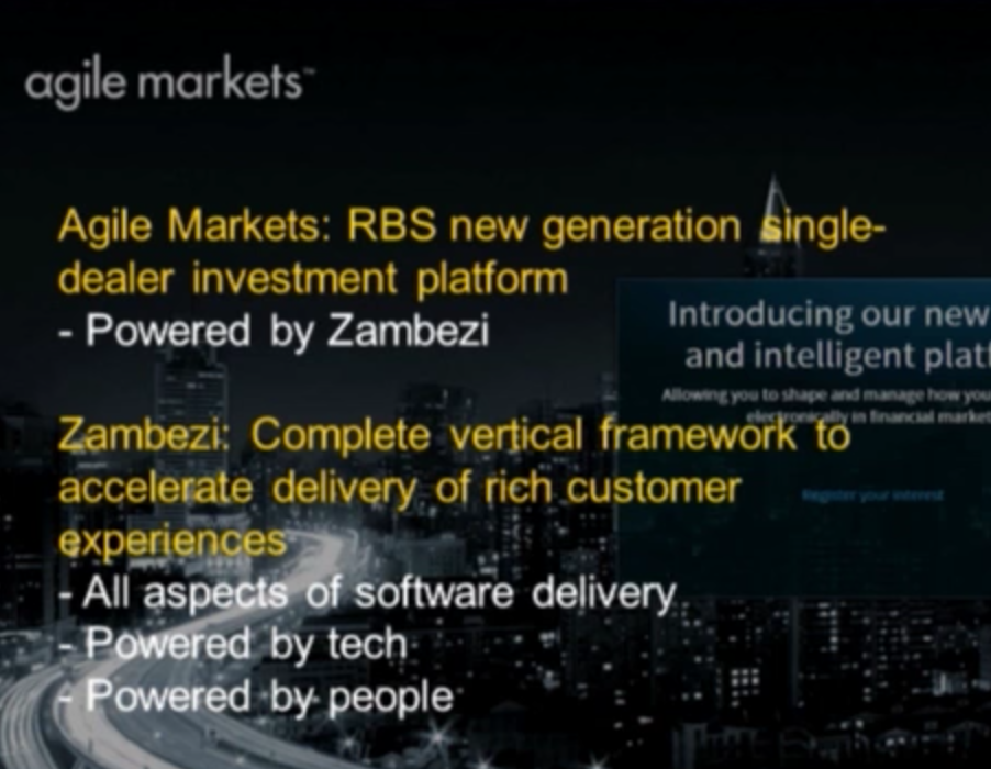 The Agile Markets Investment Platform created by RBS
