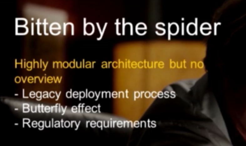 The difficulties of the legacy deployment process at the Royal Bank of Scotland