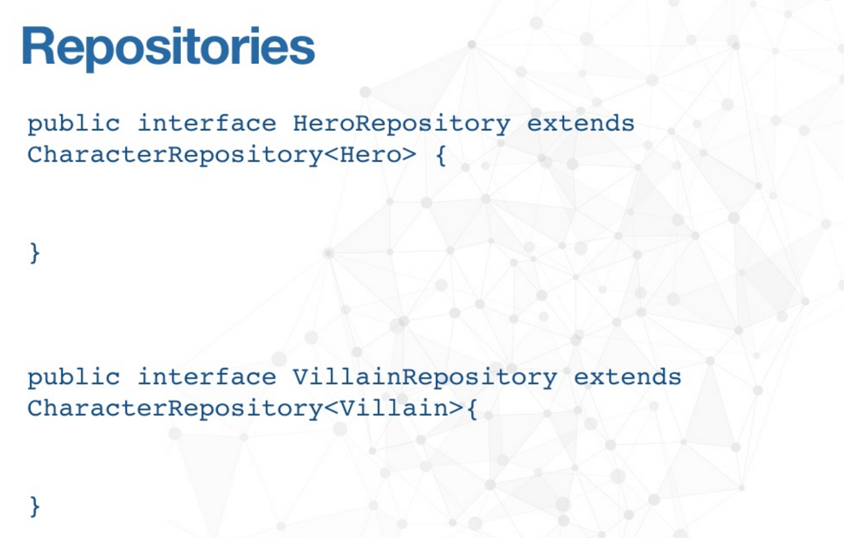 An Example of a Character Repository Query