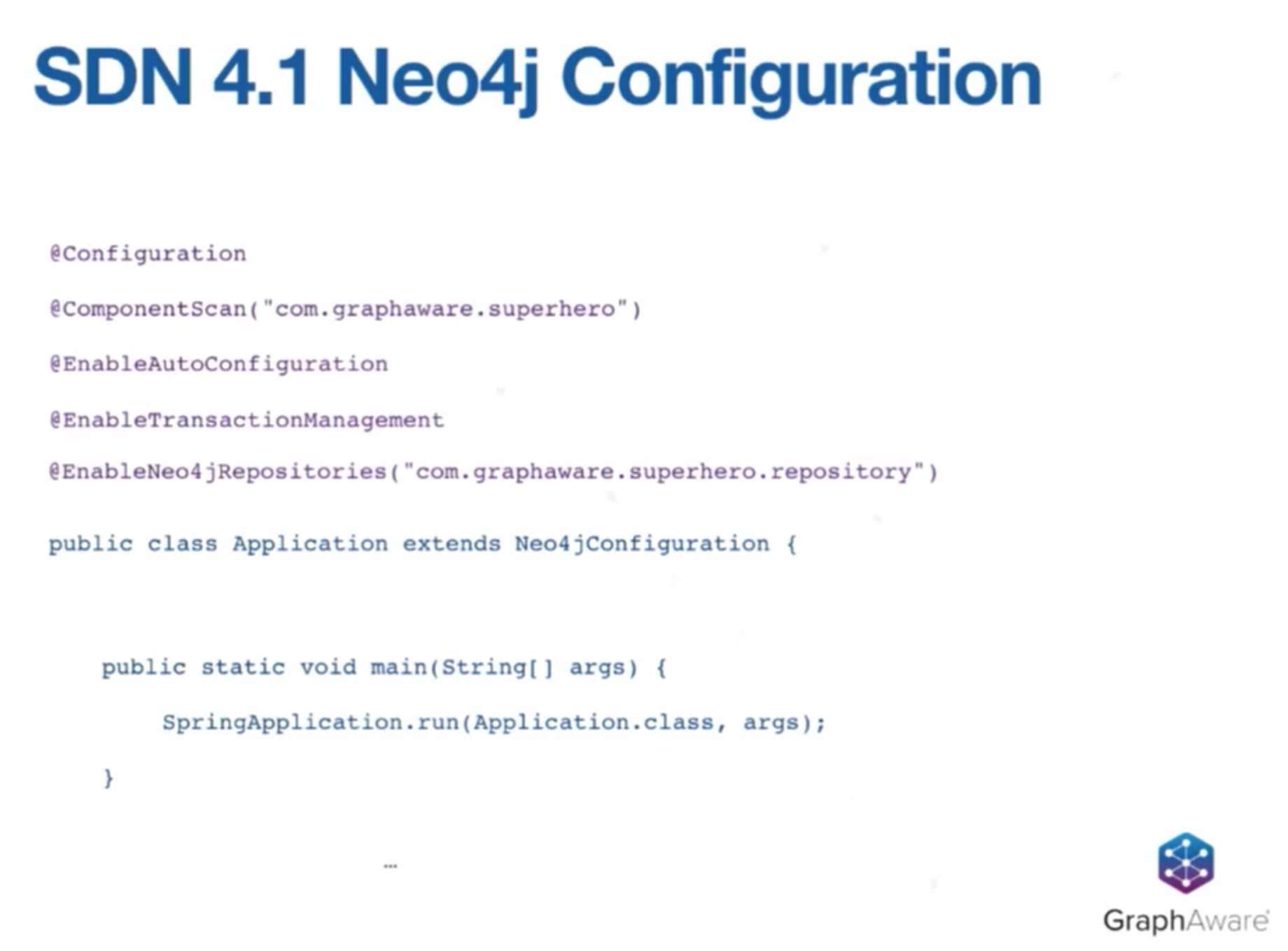 The Spring Data Neo4j Configuration with Neo4j