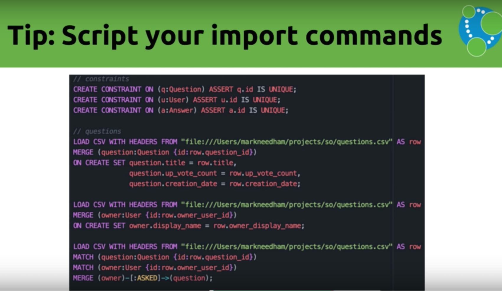 Data import tip: Script your import commands