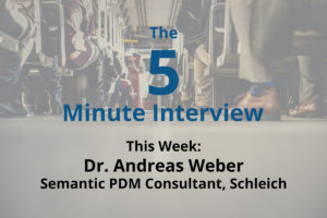 Catch this week's 5-minute interview with Dr. Andreas Weber as he discusses Neo4j and PDM