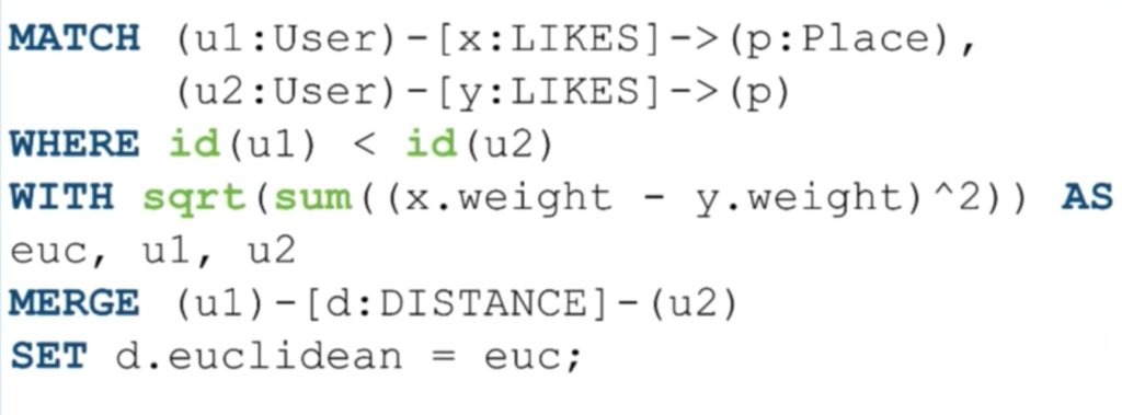 Calculating user Euclidean distance for a similarity recommendation engine