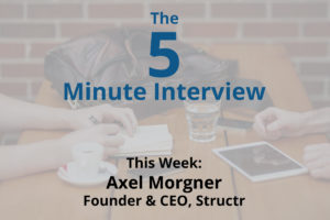 Catch this week's 5-Minute Interview with Axel Morgner, Founder and CEO of Structr