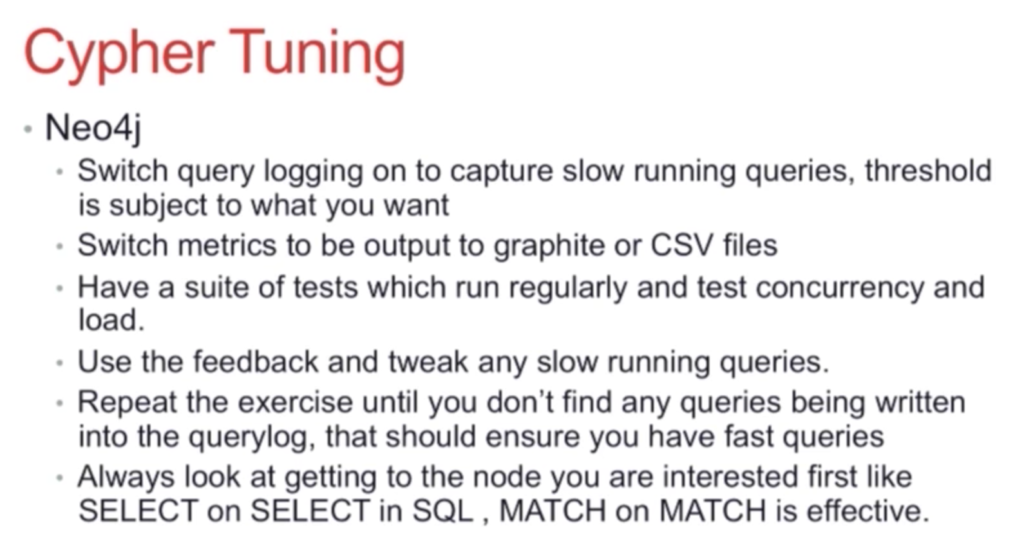 Neo4j and Cypher tuning tips