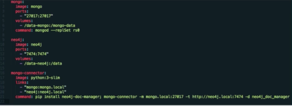 Deploy Mongo, Neo4j, and this Python Neo4j Doc Manager in Docker Compose