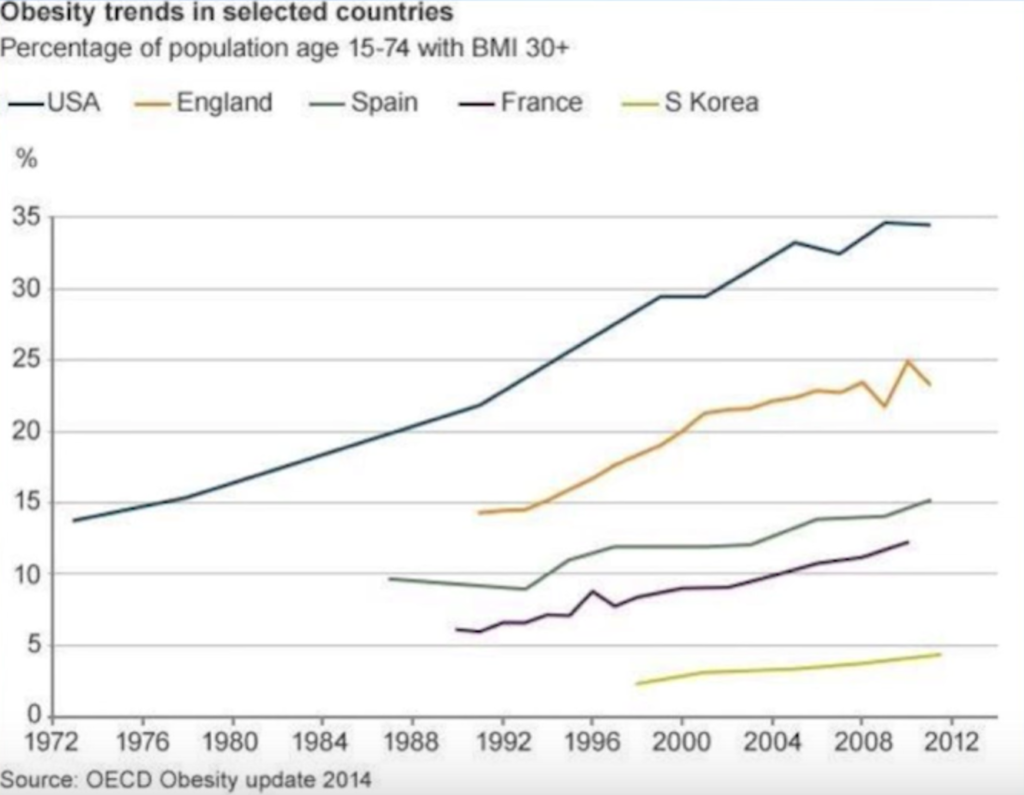 Obesity trends in the United States and abroad served as the inspiration for the food recommendation engine