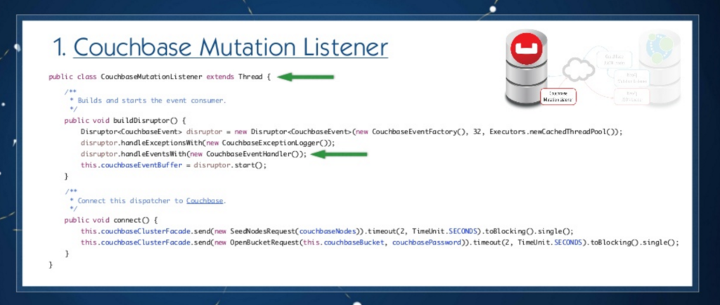 Couchbase connector mutation listener code example