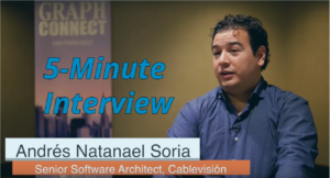 Catch this week's 5-Minute Interview with Andrés Natanael Soria, Senior Software Architect at Cablevisión