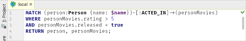 Cypher syntax highlighting in the JetBrains IDE plugin