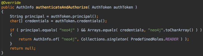 Security authenticate and authorize plugin in Neo4j Enterprise