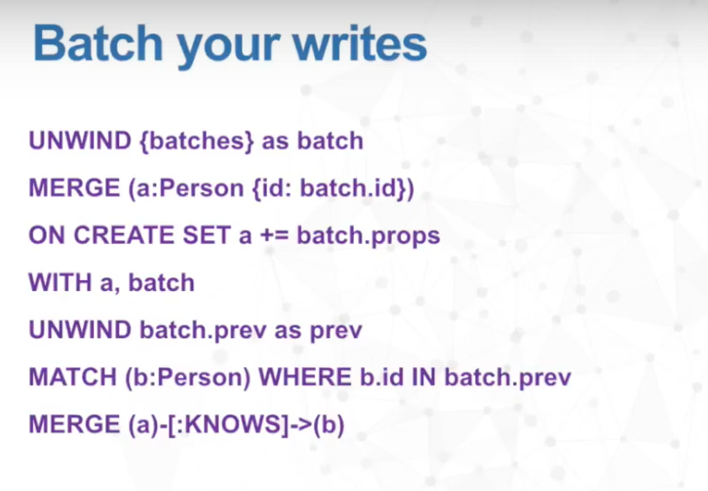 Batch your writes