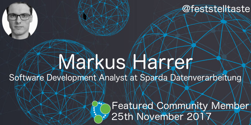 Markus Harrer - This Week's Featured Community Member