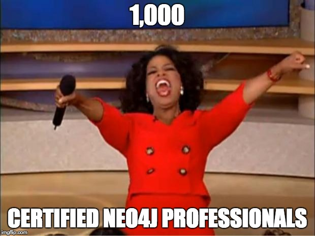 Celebrate the 1000th Neo4j Certified Professional and learn how you can become Neo4j certified as well