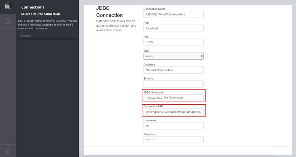 ETL database connection setup with Neo4j