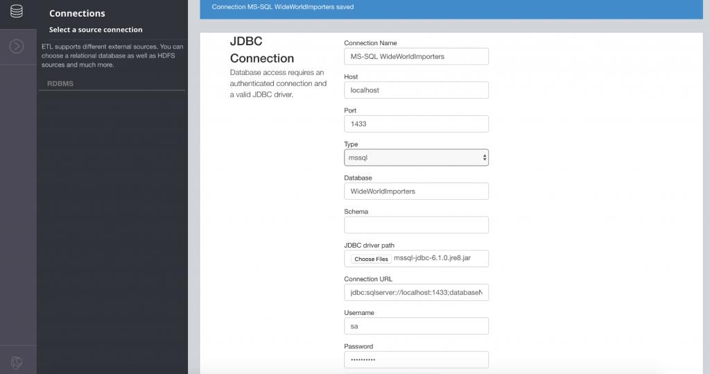 JDBC connection setup in Neo4j ETL