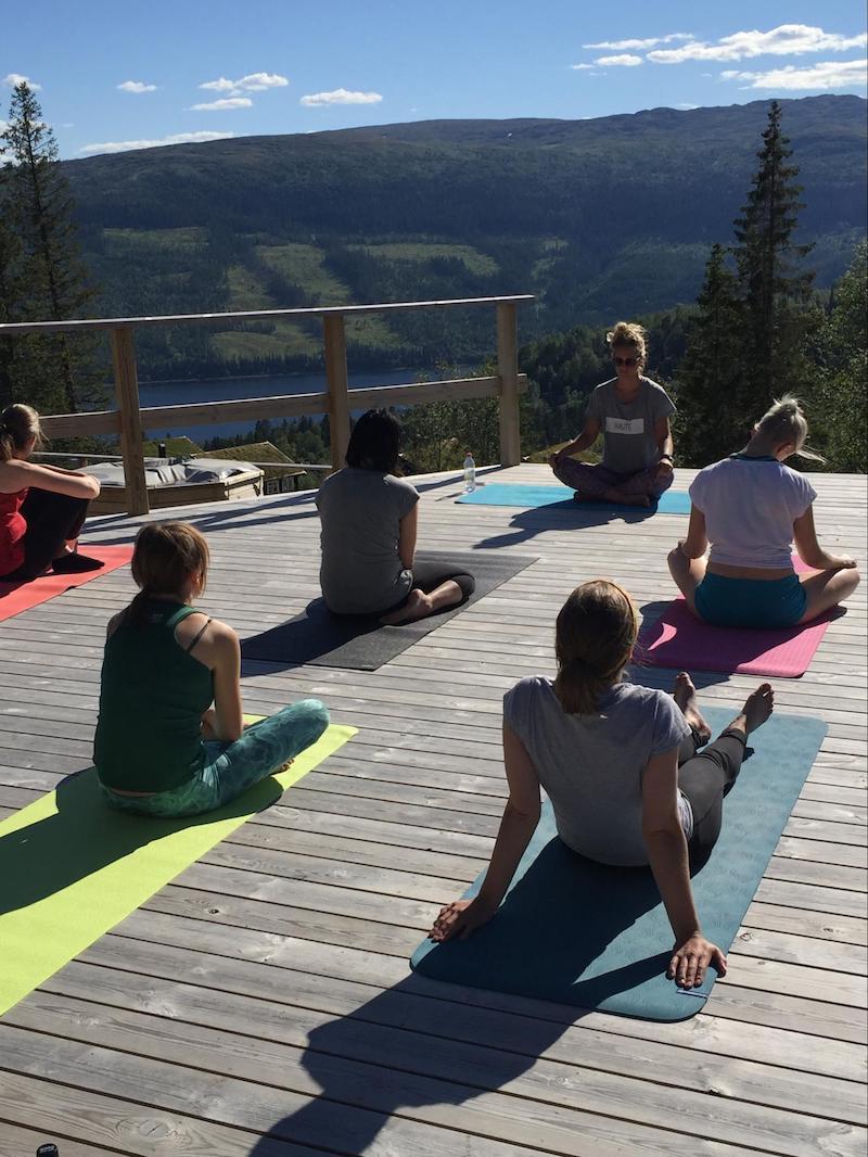 Pink Programming yoga session in Sweden.