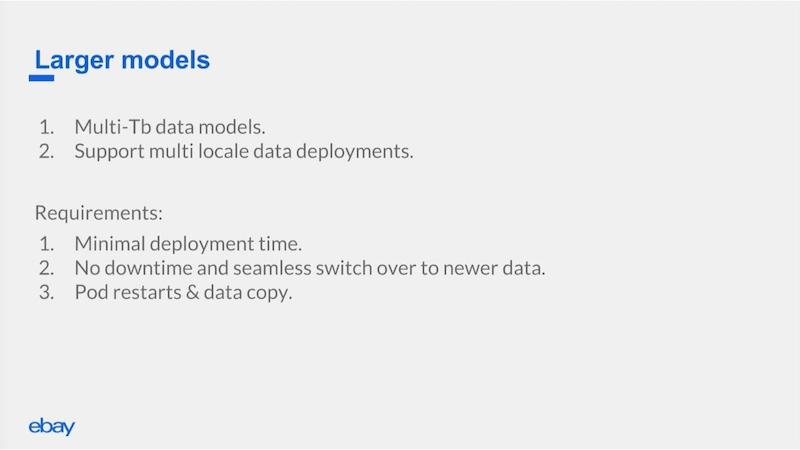 Handling multi-terabyte models and different locales.
