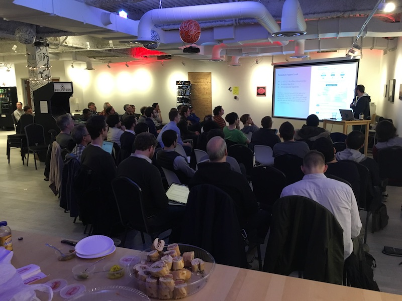 The gathering at DB Meetup Philly.