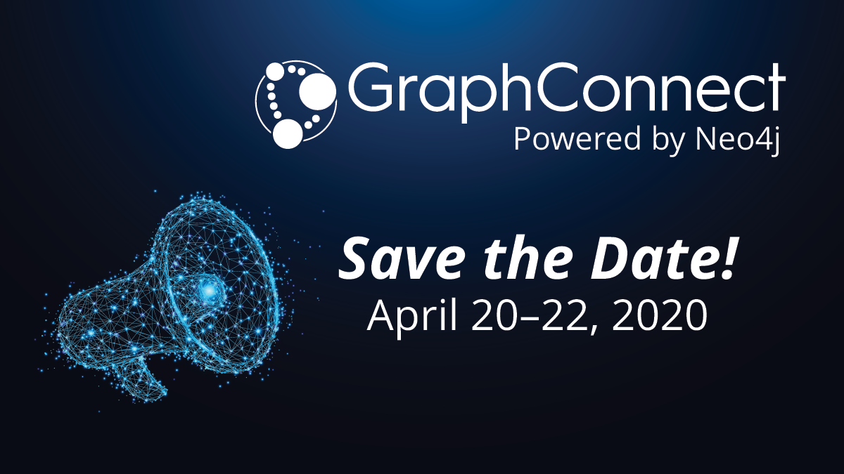 Save the date for GraphConnect 2020.