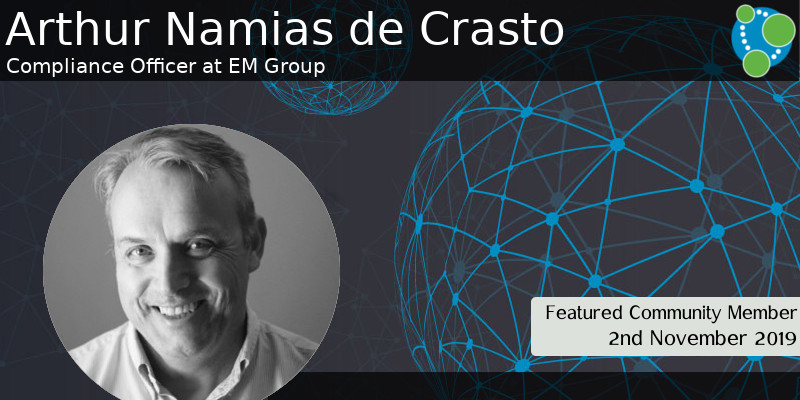 Arthur Namias de Crasto - This Week's Featured Community Member
