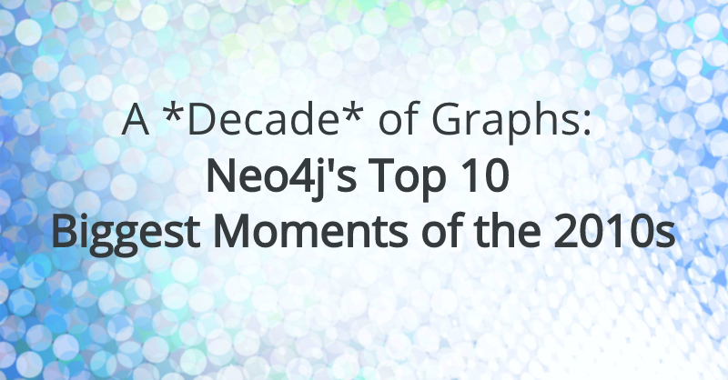 Discover the top 10 moments and big announcements from the Neo4j graph community in the last decade