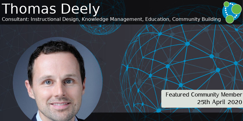Thomas Deely - This Week's Featured Community Member