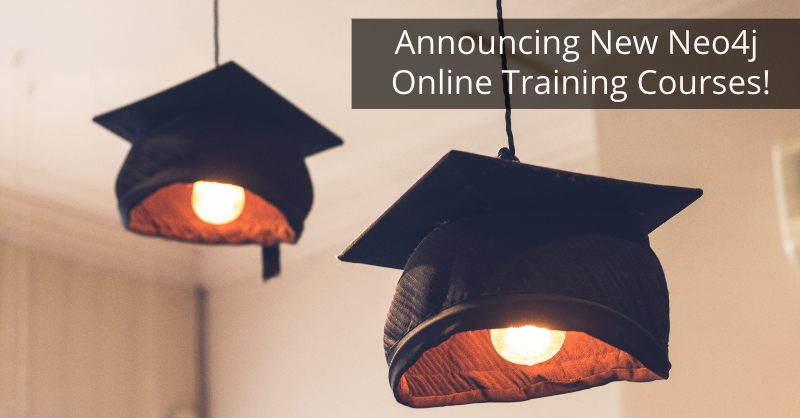 Learn about the three new Neo4j online training courses.