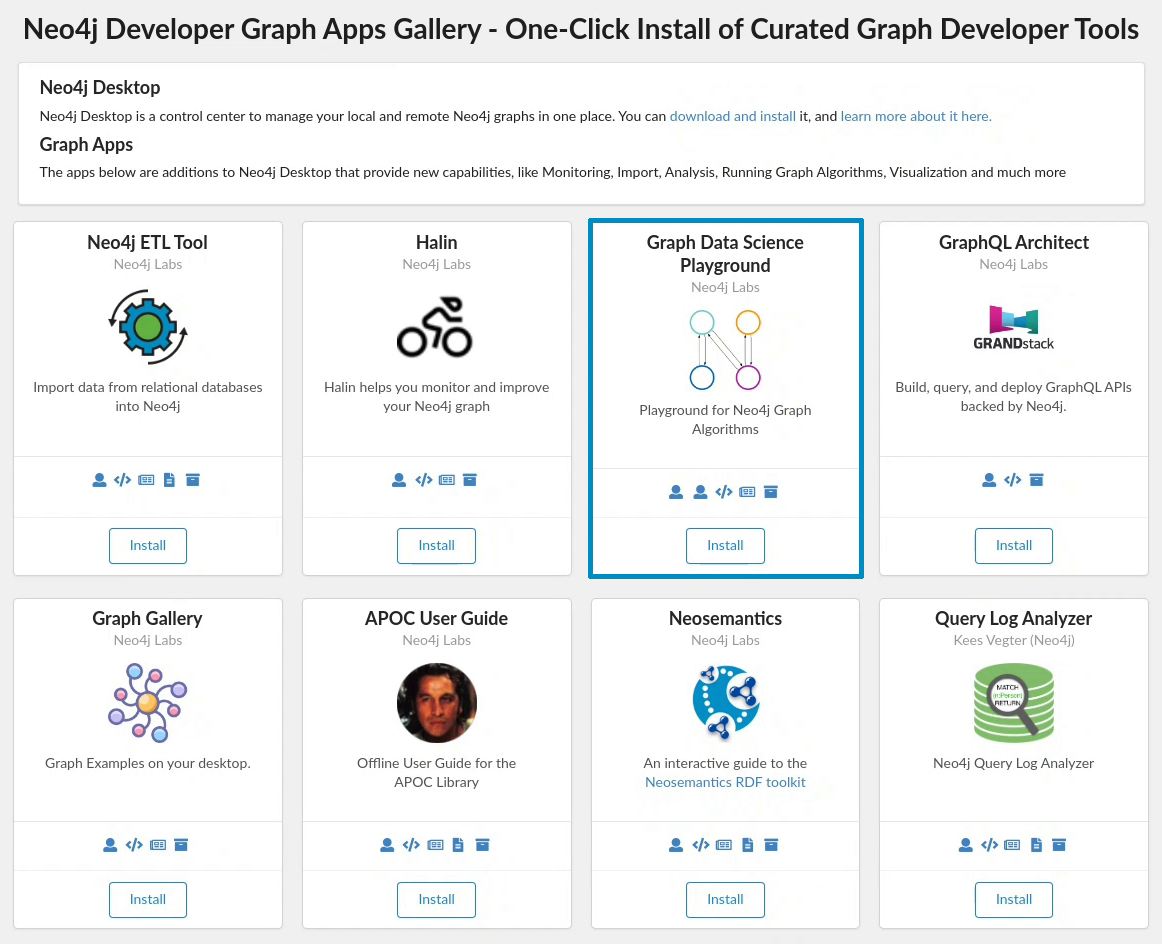 graph apps gallery
