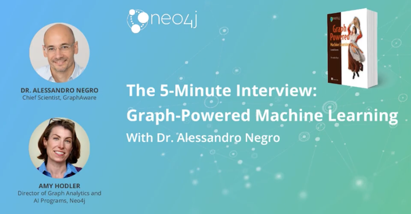 Check out this Q&A with the author of Graph-Powered Machine Learning.