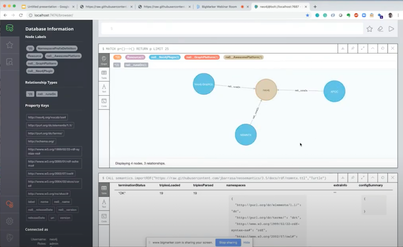 Neo4j Engineering Director, Jesús Barrasa discusses using Neosemantix with RDF data linked data and more.