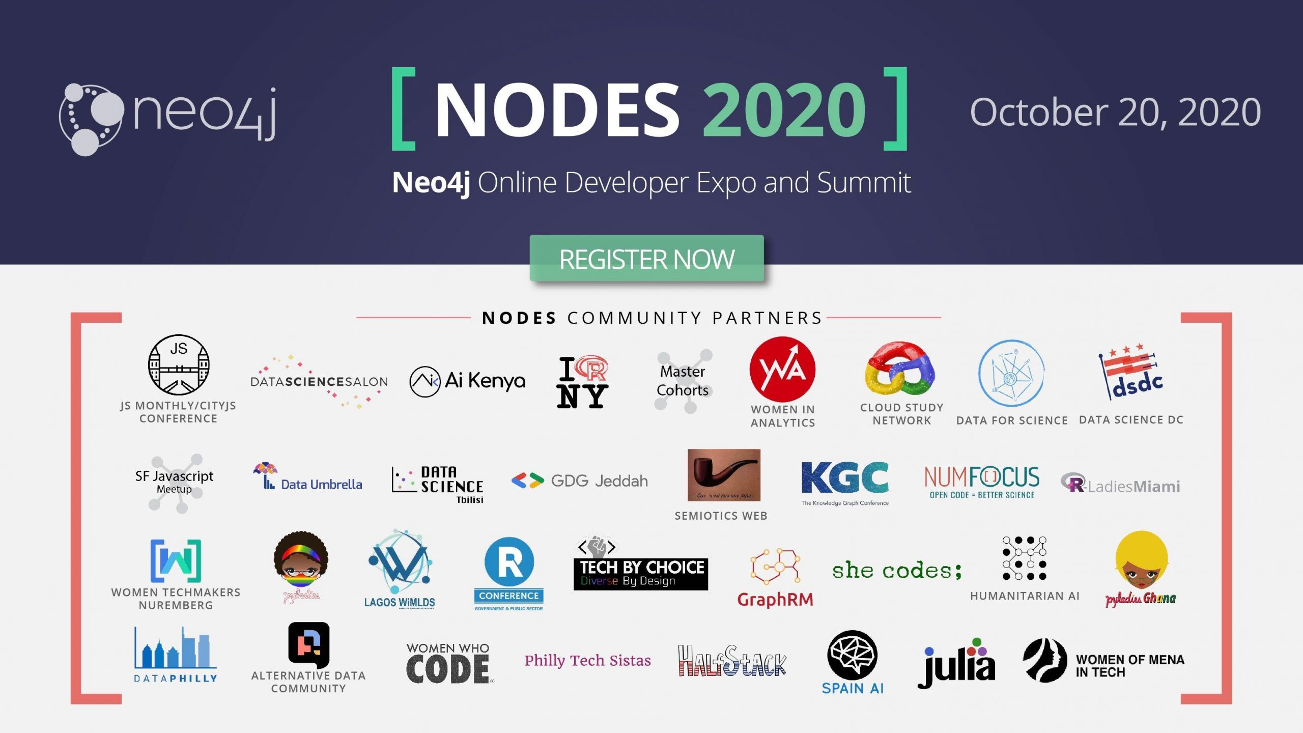 NODES 2020 Neo4j community partners.