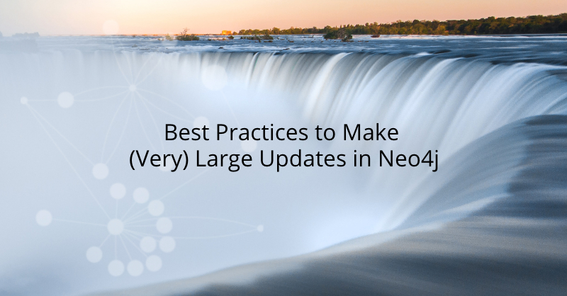 Learn how to make very large updates in Neo4j.