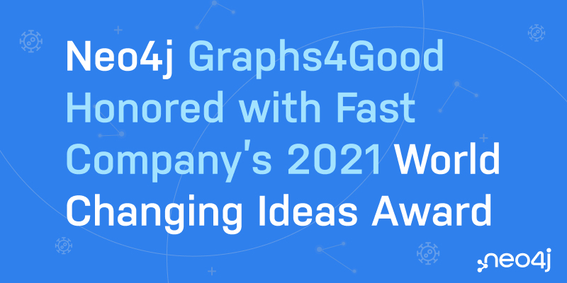 "Fast Company honored Neo4j with honorable mentions for our Graph's 4 COVID-19 ""GraphHack."""