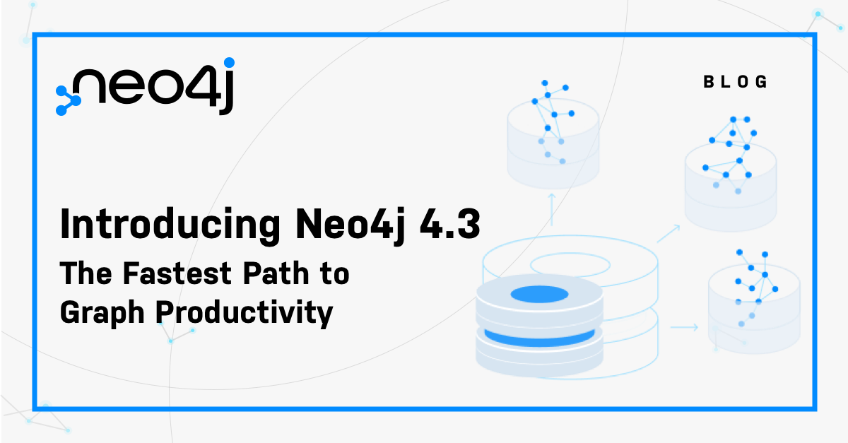 See what's new in Neo4j 4.3 including significant enhancements to performance, scalability, security, operability, and developer experience.