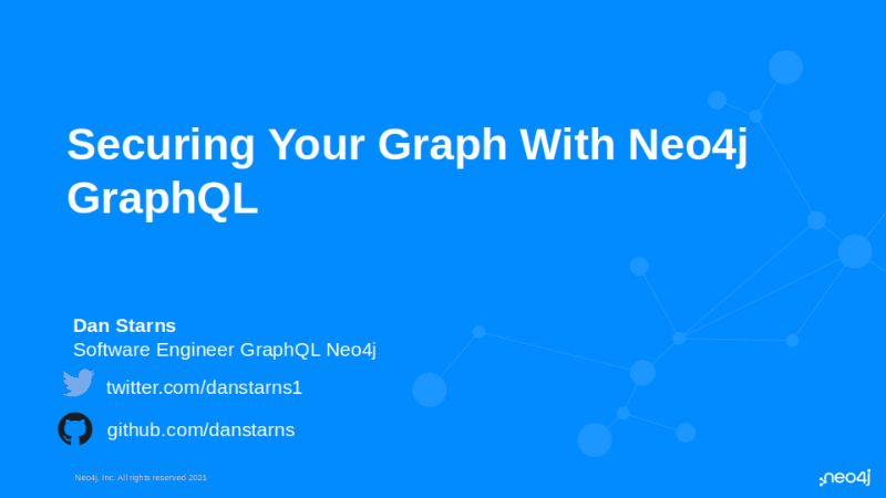 Securing Your Graph With Neo4j GraphQL