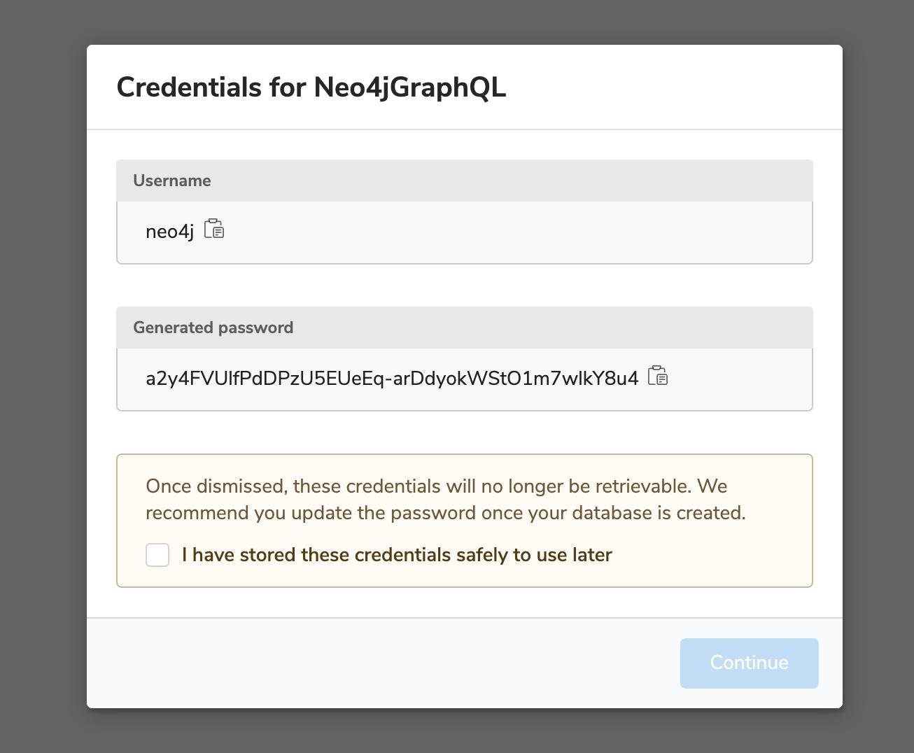 neo4j aura password