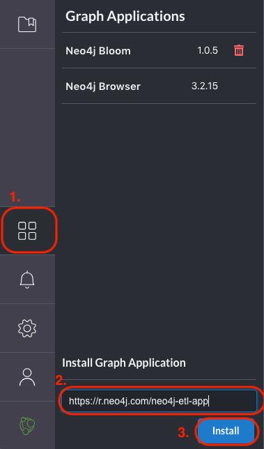 etl1a install graph app