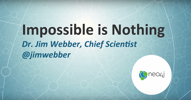 Listen to Jim Webber's Keynote Presentation on the History and Future of Graph Data Technologies